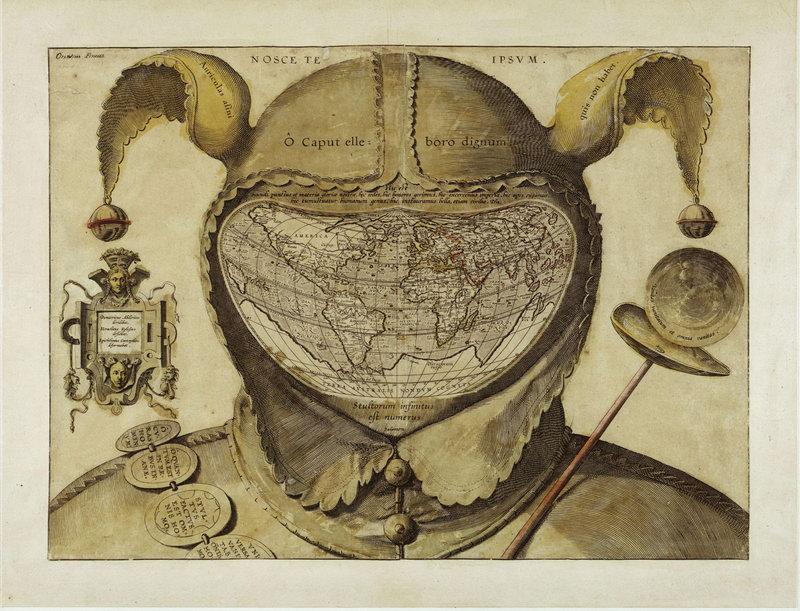 Старинные карты, картина Карта в виде шутовского колпака (17-й век)Старинные карты<br>Репродукция на холсте или бумаге. Любого нужного вам размера. В раме или без. Подвес в комплекте. Трехслойная надежная упаковка. Доставим в любую точку России. Вам осталось только повесить картину на стену!<br>