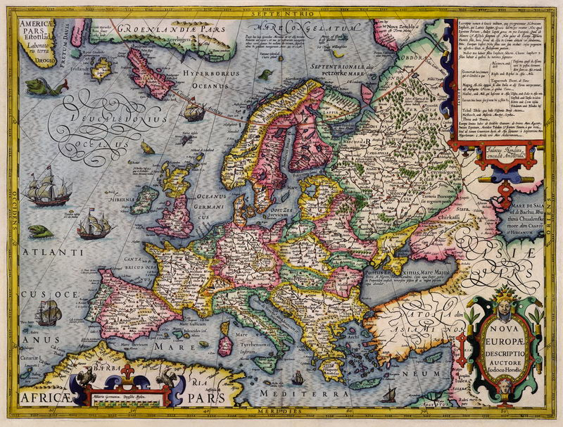 Старинные карты, картина Карта Европы (1676)Старинные карты<br>Репродукция на холсте или бумаге. Любого нужного вам размера. В раме или без. Подвес в комплекте. Трехслойная надежная упаковка. Доставим в любую точку России. Вам осталось только повесить картину на стену!<br>