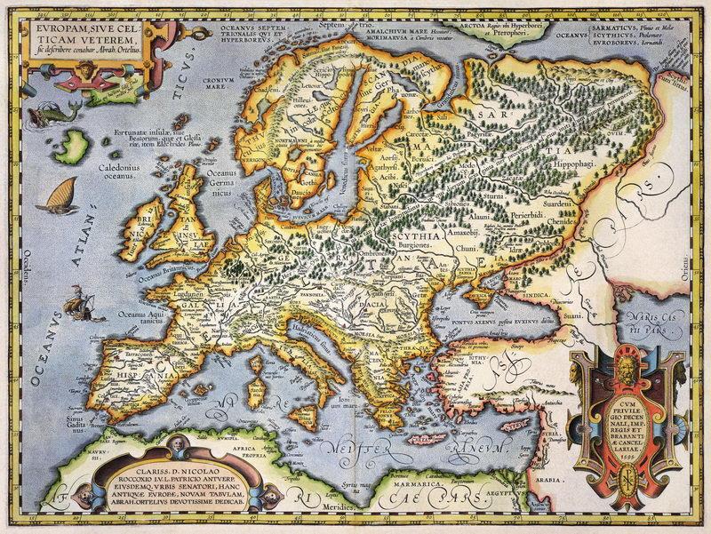 Постер Старинные карты Карта Европы (1595)Старинные карты<br>Постер на холсте или бумаге. Любого нужного вам размера. В раме или без. Подвес в комплекте. Трехслойная надежная упаковка. Доставим в любую точку России. Вам осталось только повесить картину на стену!<br>