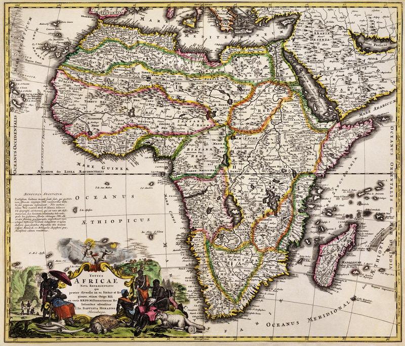 Старинные карты, картина Карта Африки (1688)Старинные карты<br>Репродукция на холсте или бумаге. Любого нужного вам размера. В раме или без. Подвес в комплекте. Трехслойная надежная упаковка. Доставим в любую точку России. Вам осталось только повесить картину на стену!<br>