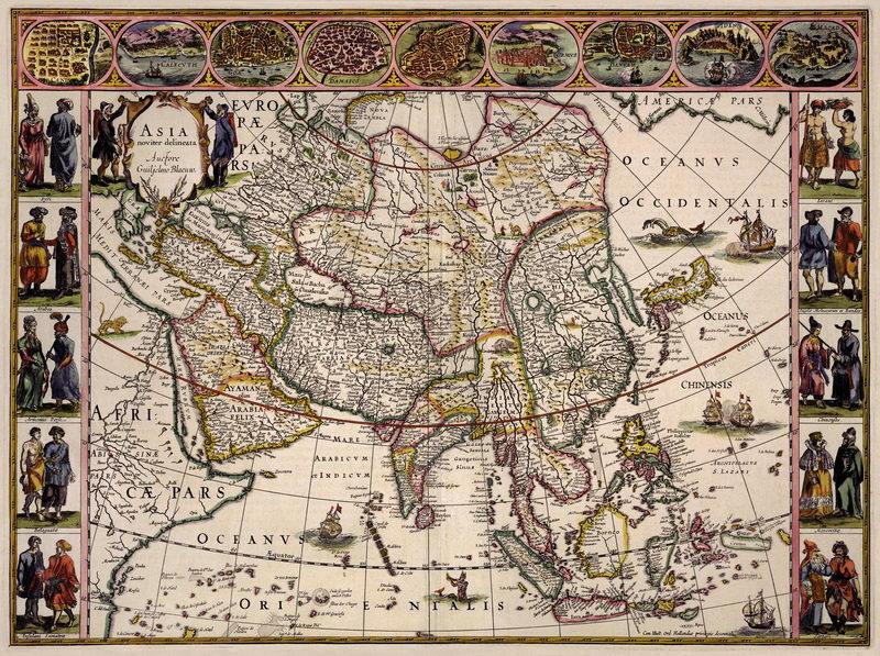 Старинные карты, картина Карта Азии (1630)Старинные карты<br>Репродукция на холсте или бумаге. Любого нужного вам размера. В раме или без. Подвес в комплекте. Трехслойная надежная упаковка. Доставим в любую точку России. Вам осталось только повесить картину на стену!<br>
