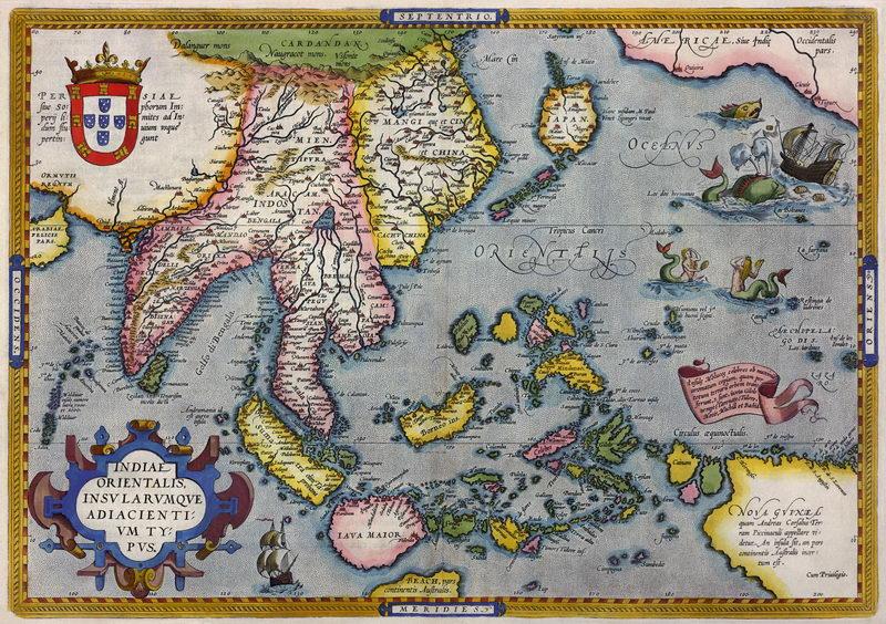 Постер Старинные карты Карта Индии и Новой Гвинеи (1570-1603)Старинные карты<br>Постер на холсте или бумаге. Любого нужного вам размера. В раме или без. Подвес в комплекте. Трехслойная надежная упаковка. Доставим в любую точку России. Вам осталось только повесить картину на стену!<br>