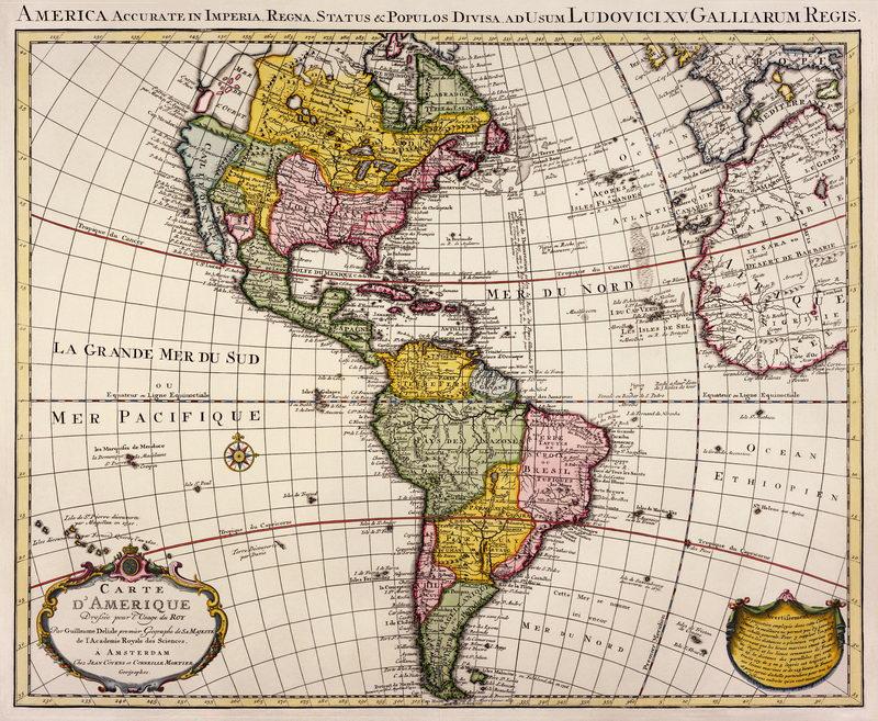 Постер Города и карты Карта Америки (1730), 24x20 см, на бумагеСтаринные карты<br>Постер на холсте или бумаге. Любого нужного вам размера. В раме или без. Подвес в комплекте. Трехслойная надежная упаковка. Доставим в любую точку России. Вам осталось только повесить картину на стену!<br>