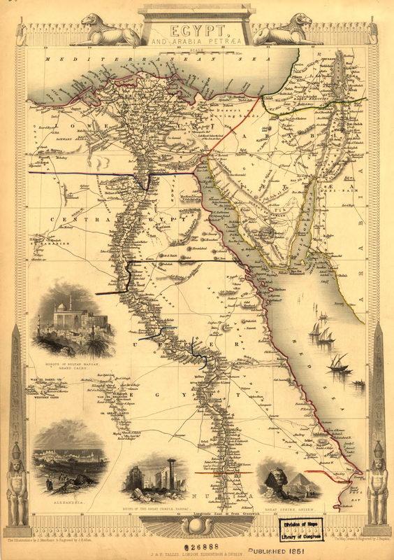Старинные карты, картина Карта Египта и Аравии (1851)Старинные карты<br>Репродукция на холсте или бумаге. Любого нужного вам размера. В раме или без. Подвес в комплекте. Трехслойная надежная упаковка. Доставим в любую точку России. Вам осталось только повесить картину на стену!<br>