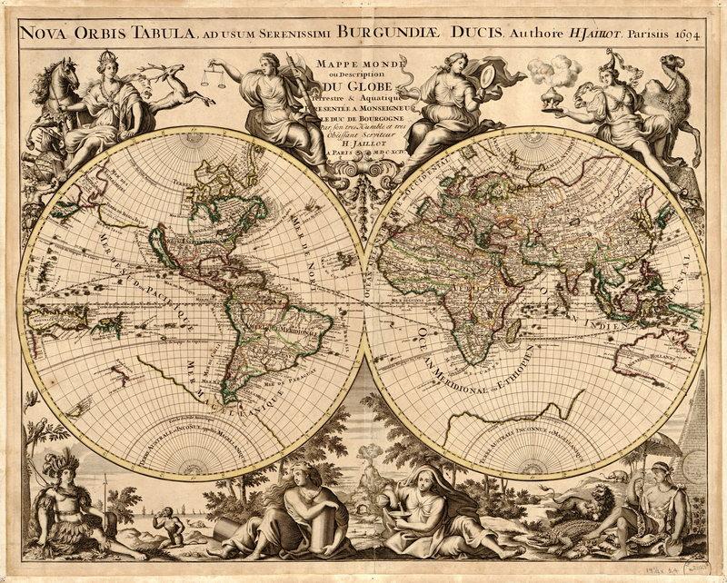 Постер Старинные карты Карта мира (1694)Старинные карты<br>Постер на холсте или бумаге. Любого нужного вам размера. В раме или без. Подвес в комплекте. Трехслойная надежная упаковка. Доставим в любую точку России. Вам осталось только повесить картину на стену!<br>