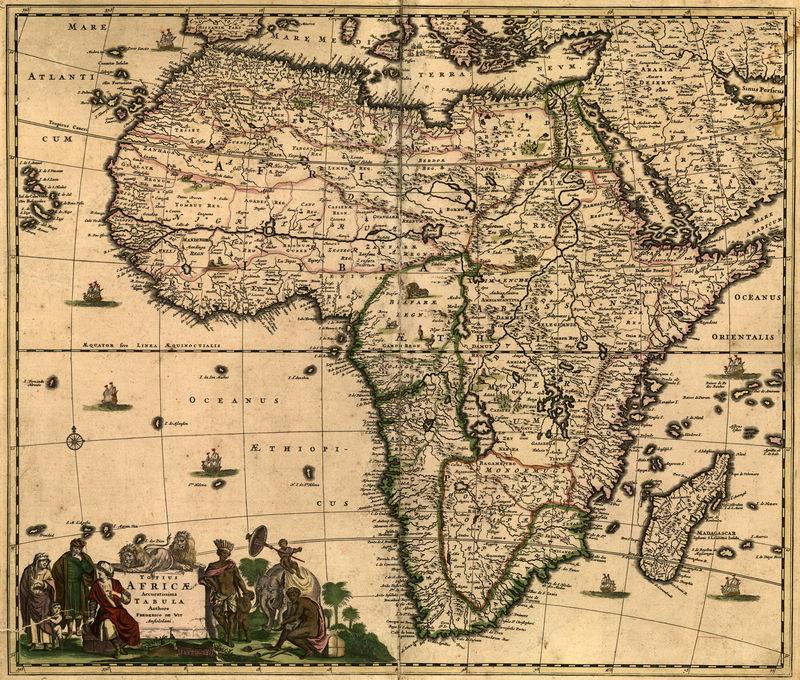 Старинные карты, картина Карта Африки (1688) арт. 2563Старинные карты<br>Репродукция на холсте или бумаге. Любого нужного вам размера. В раме или без. Подвес в комплекте. Трехслойная надежная упаковка. Доставим в любую точку России. Вам осталось только повесить картину на стену!<br>