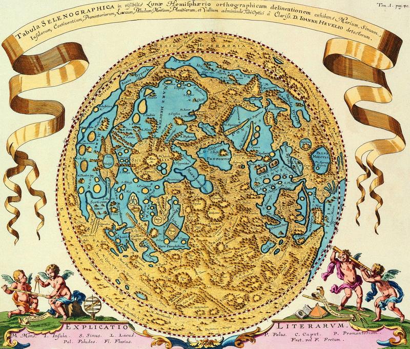 Постер Старинные карты Хевелл Иоанн, Карта луныСтаринные карты<br>Постер на холсте или бумаге. Любого нужного вам размера. В раме или без. Подвес в комплекте. Трехслойная надежная упаковка. Доставим в любую точку России. Вам осталось только повесить картину на стену!<br>