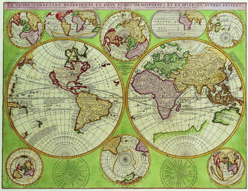 Старинные карты, картина Коронелли Винченцо Мария, Карта мира (1742)Старинные карты<br>Репродукция на холсте или бумаге. Любого нужного вам размера. В раме или без. Подвес в комплекте. Трехслойная надежная упаковка. Доставим в любую точку России. Вам осталось только повесить картину на стену!<br>