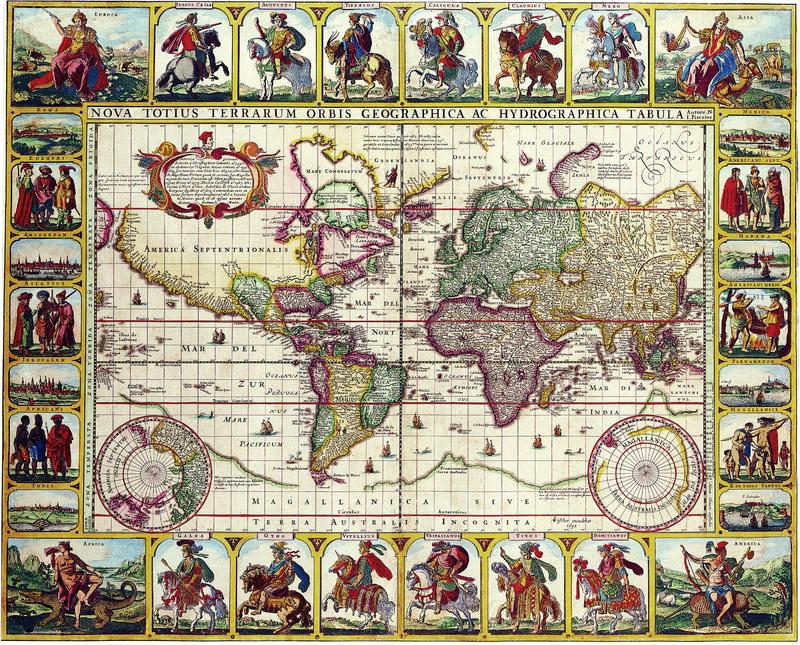 Старинные карты, картина Пискатор Николас Иоаннис, Карта мира (1652)Старинные карты<br>Репродукция на холсте или бумаге. Любого нужного вам размера. В раме или без. Подвес в комплекте. Трехслойная надежная упаковка. Доставим в любую точку России. Вам осталось только повесить картину на стену!<br>
