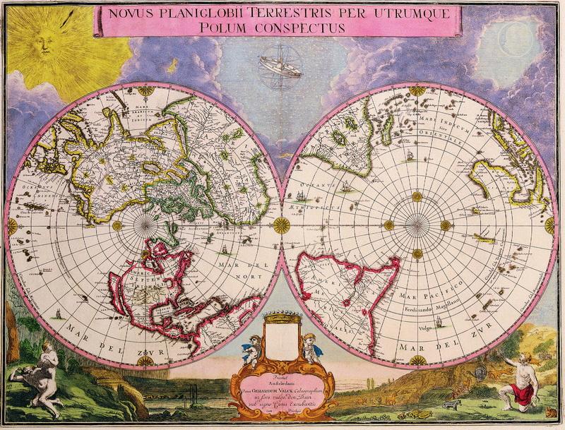 Постер Старинные карты Валк Жерар, Карта мира (1695)Старинные карты<br>Постер на холсте или бумаге. Любого нужного вам размера. В раме или без. Подвес в комплекте. Трехслойная надежная упаковка. Доставим в любую точку России. Вам осталось только повесить картину на стену!<br>