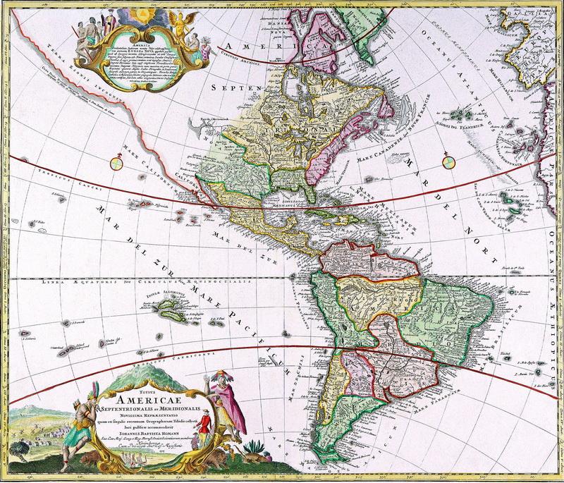Старинные карты, картина Хоманн Иоганн Баптист, Карта Южной и Северной АмерикиСтаринные карты<br>Репродукция на холсте или бумаге. Любого нужного вам размера. В раме или без. Подвес в комплекте. Трехслойная надежная упаковка. Доставим в любую точку России. Вам осталось только повесить картину на стену!<br>