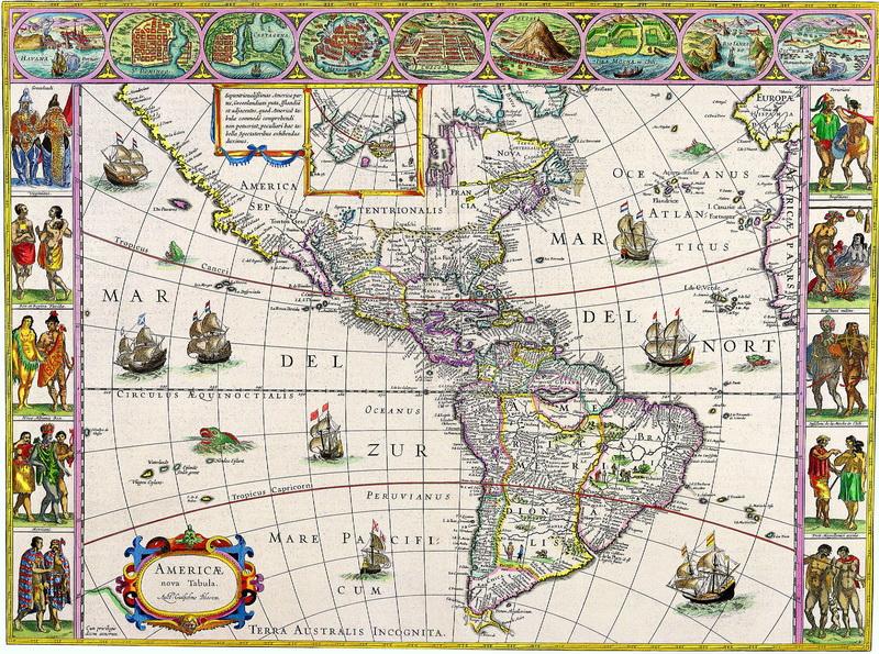 Старинные карты, картина Блау Уилльям, Америка (1645)Старинные карты<br>Репродукция на холсте или бумаге. Любого нужного вам размера. В раме или без. Подвес в комплекте. Трехслойная надежная упаковка. Доставим в любую точку России. Вам осталось только повесить картину на стену!<br>