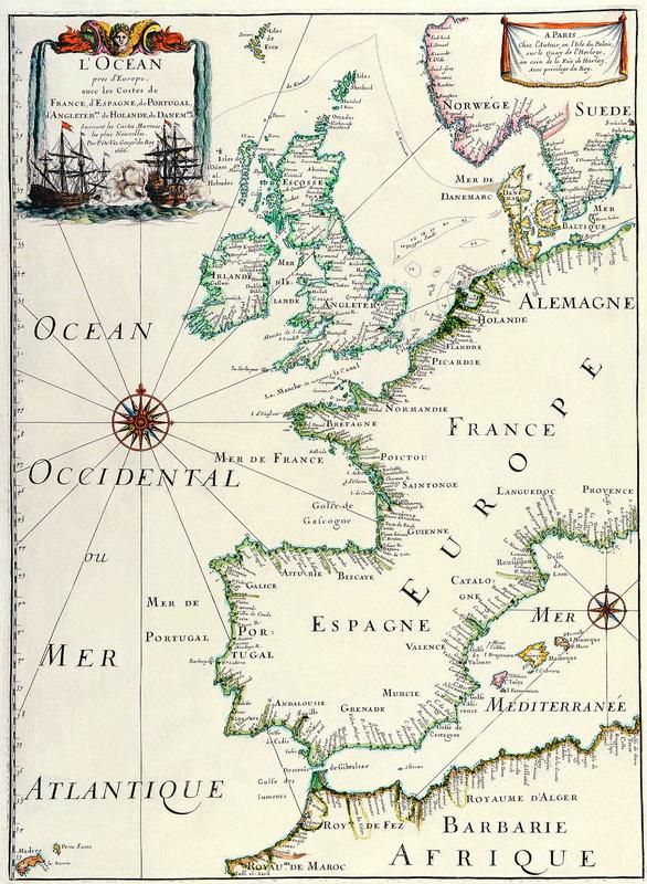 Постер Старинные карты Дюваль Пьер, Океан, омывающий Европу (1666)Старинные карты<br>Постер на холсте или бумаге. Любого нужного вам размера. В раме или без. Подвес в комплекте. Трехслойная надежная упаковка. Доставим в любую точку России. Вам осталось только повесить картину на стену!<br>