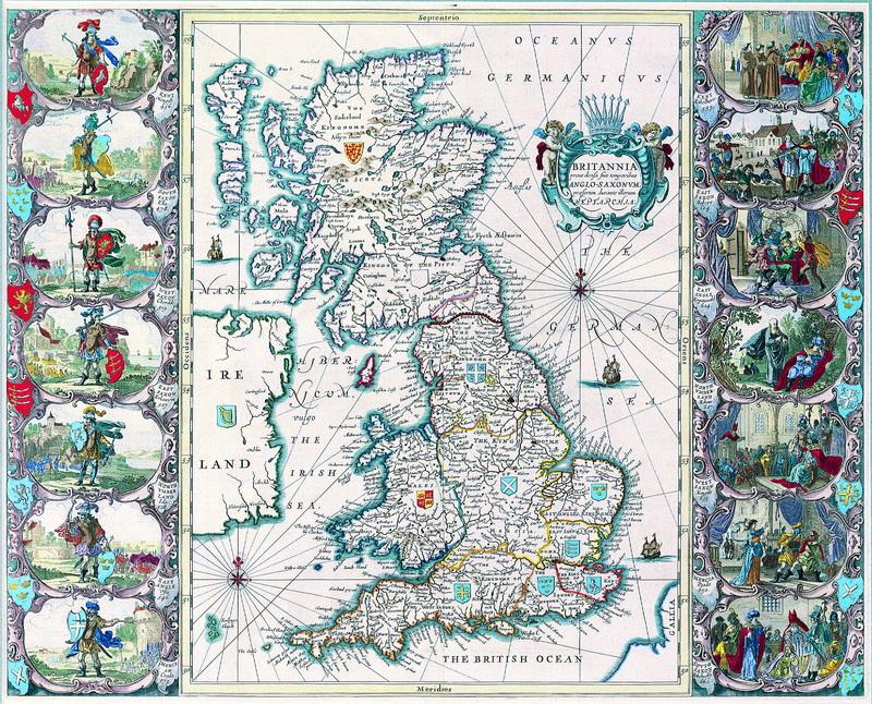 Старинные карты, картина Янсон Ян, Британия (1646)Старинные карты<br>Репродукция на холсте или бумаге. Любого нужного вам размера. В раме или без. Подвес в комплекте. Трехслойная надежная упаковка. Доставим в любую точку России. Вам осталось только повесить картину на стену!<br>
