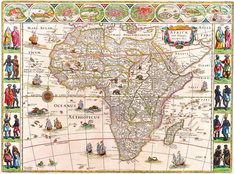 Постер Старинные карты Блау Уилльям, Африка (1640)Старинные карты<br>Постер на холсте или бумаге. Любого нужного вам размера. В раме или без. Подвес в комплекте. Трехслойная надежная упаковка. Доставим в любую точку России. Вам осталось только повесить картину на стену!<br>