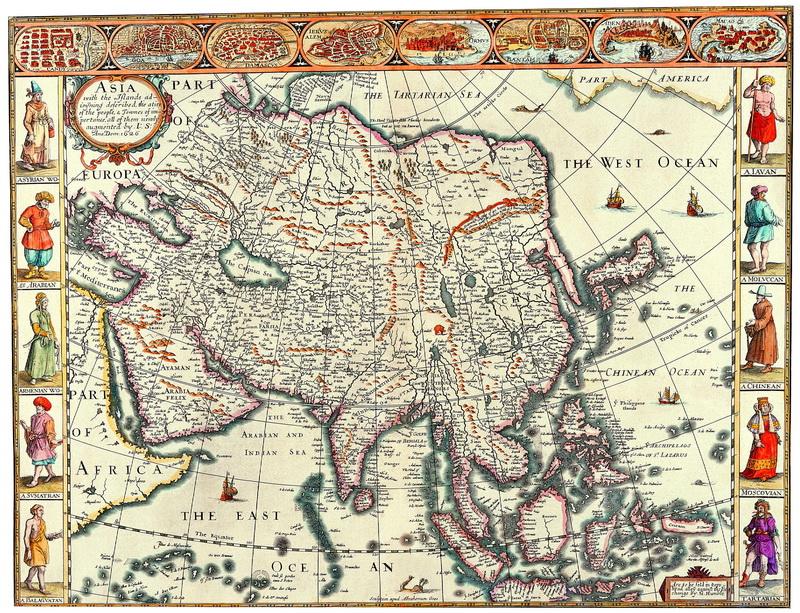 Старинные карты, картина Спид Джон, Азия (1626)Старинные карты<br>Репродукция на холсте или бумаге. Любого нужного вам размера. В раме или без. Подвес в комплекте. Трехслойная надежная упаковка. Доставим в любую точку России. Вам осталось только повесить картину на стену!<br>