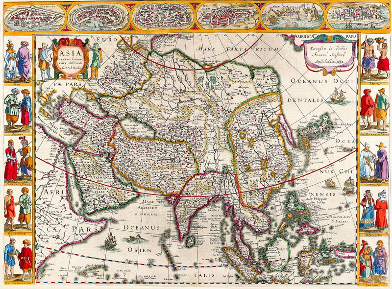 Старинные карты, картина Янсон Ян, Азия (1632)Старинные карты<br>Репродукция на холсте или бумаге. Любого нужного вам размера. В раме или без. Подвес в комплекте. Трехслойная надежная упаковка. Доставим в любую точку России. Вам осталось только повесить картину на стену!<br>