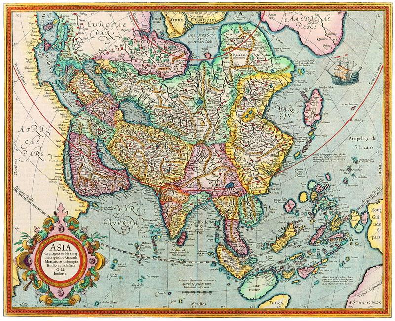 Постер Старинные карты Меркатор Герард, Азия (1633)Старинные карты<br>Постер на холсте или бумаге. Любого нужного вам размера. В раме или без. Подвес в комплекте. Трехслойная надежная упаковка. Доставим в любую точку России. Вам осталось только повесить картину на стену!<br>