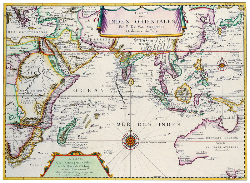 Старинные карты, картина Дюваль Пьер, Карта Ост-Индии (1677)Старинные карты<br>Репродукция на холсте или бумаге. Любого нужного вам размера. В раме или без. Подвес в комплекте. Трехслойная надежная упаковка. Доставим в любую точку России. Вам осталось только повесить картину на стену!<br>