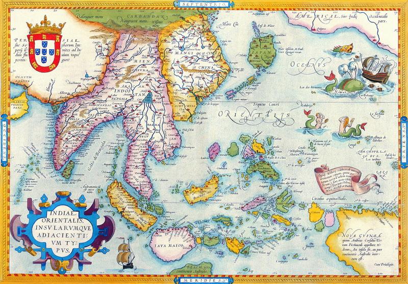 Постер Старинные карты Ортелиус Абрахам, Юго-Восточная Азия (1612)Старинные карты<br>Постер на холсте или бумаге. Любого нужного вам размера. В раме или без. Подвес в комплекте. Трехслойная надежная упаковка. Доставим в любую точку России. Вам осталось только повесить картину на стену!<br>