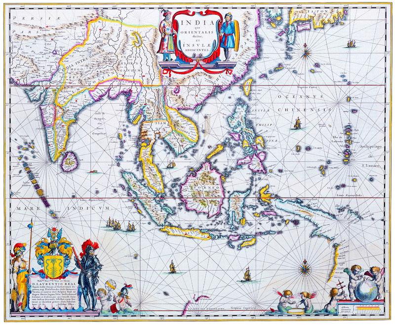 Старинные карты, картина Блау Уилльям, Карта Юго-Восточной АзииСтаринные карты<br>Репродукция на холсте или бумаге. Любого нужного вам размера. В раме или без. Подвес в комплекте. Трехслойная надежная упаковка. Доставим в любую точку России. Вам осталось только повесить картину на стену!<br>