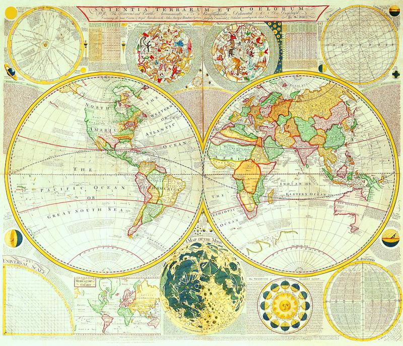 Старинные карты, картина Данн Сэмюэль, Карта неба и земли (1784)Старинные карты<br>Репродукция на холсте или бумаге. Любого нужного вам размера. В раме или без. Подвес в комплекте. Трехслойная надежная упаковка. Доставим в любую точку России. Вам осталось только повесить картину на стену!<br>