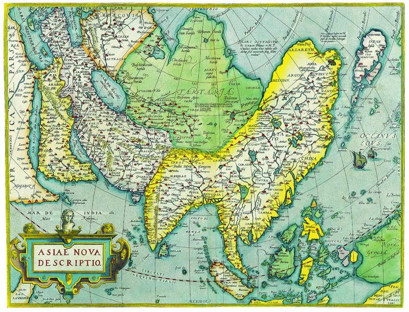 Старинные карты, картина Ортелиус Абрахам, Новая карта Азии (1575)Старинные карты<br>Репродукция на холсте или бумаге. Любого нужного вам размера. В раме или без. Подвес в комплекте. Трехслойная надежная упаковка. Доставим в любую точку России. Вам осталось только повесить картину на стену!<br>