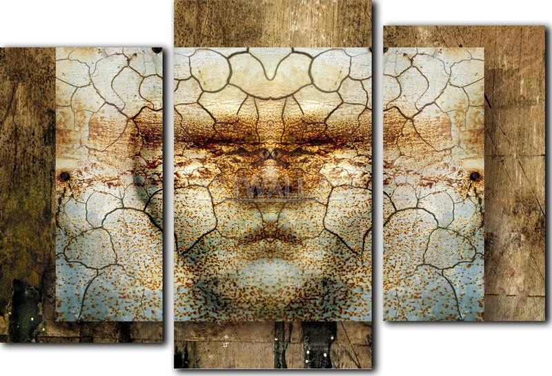 Модульная картина «Лицо времени»Абстракция<br>Модульная картина на натуральном холсте и деревянном подрамнике. Подвес в комплекте. Трехслойная надежная упаковка. Доставим в любую точку России. Вам осталось только повесить картину на стену!<br>