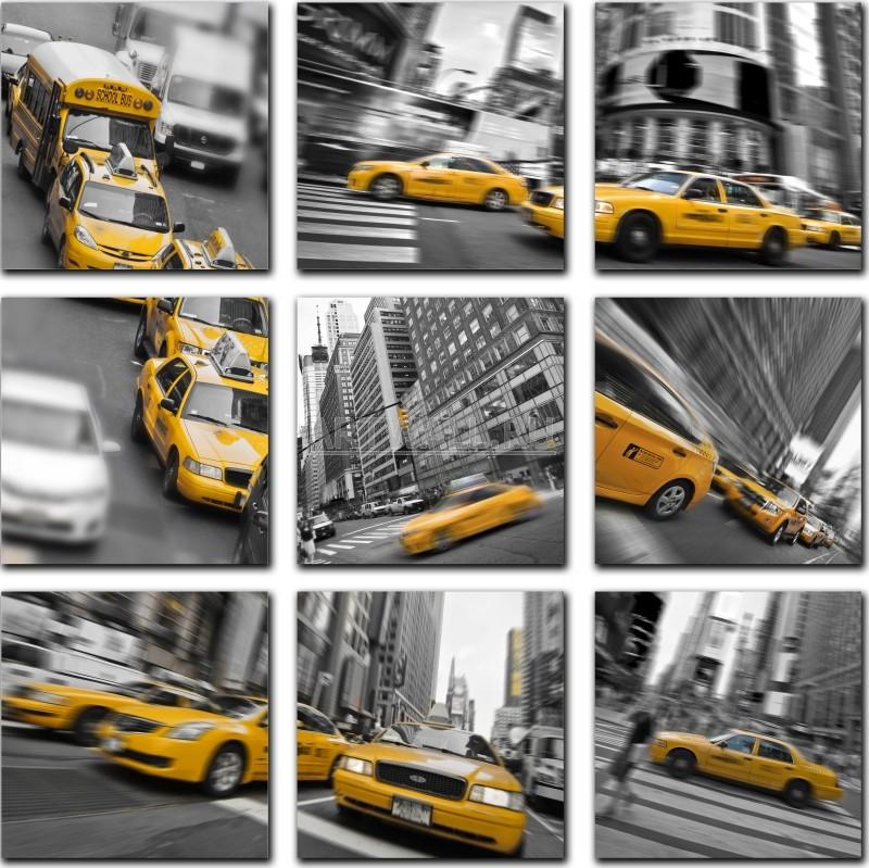 Модульная картина «Такси в большом городе»Города<br>Модульная картина на натуральном холсте и деревянном подрамнике. Подвес в комплекте. Трехслойная надежная упаковка. Доставим в любую точку России. Вам осталось только повесить картину на стену!<br>