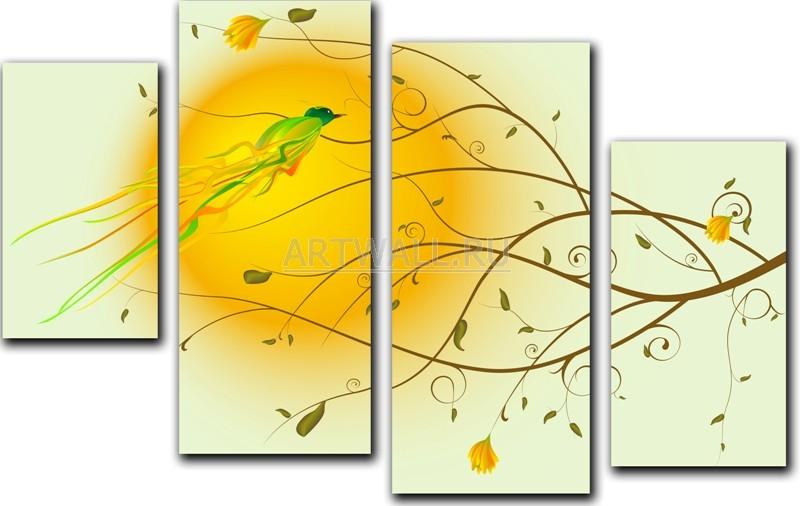 Модульная картина «Навстречу солнцу»Природа<br>Модульная картина на натуральном холсте и деревянном подрамнике. Подвес в комплекте. Трехслойная надежная упаковка. Доставим в любую точку России. Вам осталось только повесить картину на стену!<br>