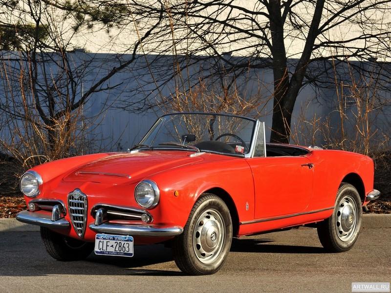 Постер Alfa Romeo Giulia 1600 Spider 1962-65, 27x20 см, на бумагеAlfa Romeo<br>Постер на холсте или бумаге. Любого нужного вам размера. В раме или без. Подвес в комплекте. Трехслойная надежная упаковка. Доставим в любую точку России. Вам осталось только повесить картину на стену!<br>