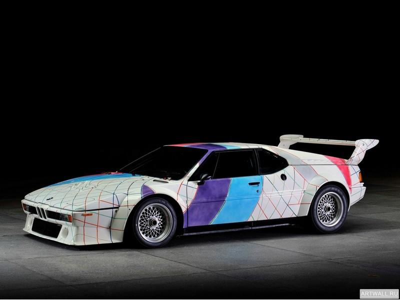 Постер BMW M1 Procar Art Car by Frank Stella (E26) 1979 дизайн ItalDesign, 27x20 см, на бумагеBMW<br>Постер на холсте или бумаге. Любого нужного вам размера. В раме или без. Подвес в комплекте. Трехслойная надежная упаковка. Доставим в любую точку России. Вам осталось только повесить картину на стену!<br>