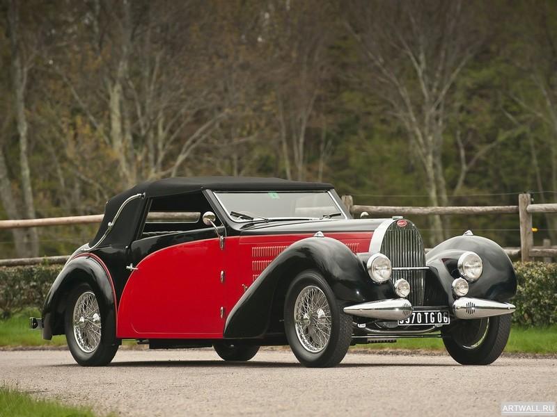 Постер Bugatti Type 57C Faux Cabriolet 1939, 27x20 см, на бумагеBugatti<br>Постер на холсте или бумаге. Любого нужного вам размера. В раме или без. Подвес в комплекте. Трехслойная надежная упаковка. Доставим в любую точку России. Вам осталось только повесить картину на стену!<br>