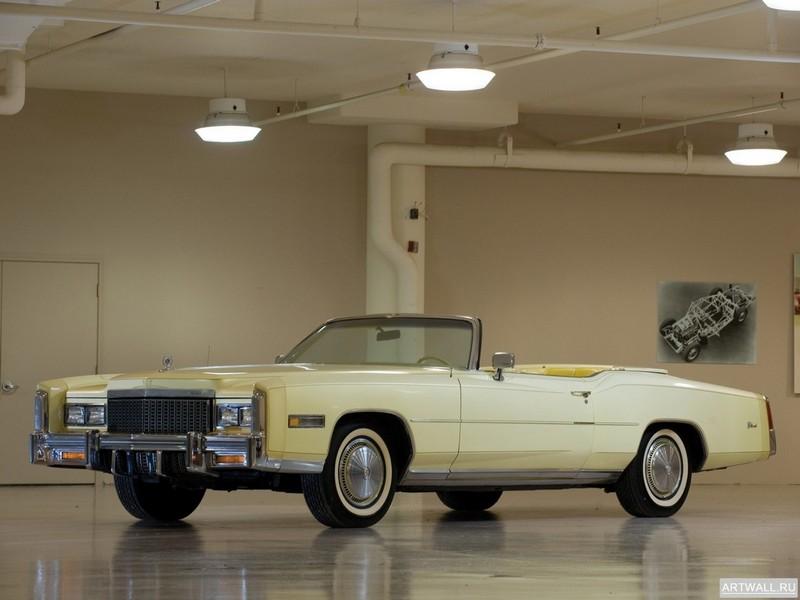 Постер Cadillac Eldorado Convertible 1976, 27x20 см, на бумагеCadillac<br>Постер на холсте или бумаге. Любого нужного вам размера. В раме или без. Подвес в комплекте. Трехслойная надежная упаковка. Доставим в любую точку России. Вам осталось только повесить картину на стену!<br>