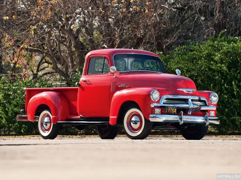 Постер Chevrolet 3100 Pickup 1954, 27x20 см, на бумагеChevrolet<br>Постер на холсте или бумаге. Любого нужного вам размера. В раме или без. Подвес в комплекте. Трехслойная надежная упаковка. Доставим в любую точку России. Вам осталось только повесить картину на стену!<br>
