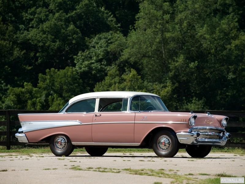 Постер Chevrolet Bel Air 2-door Sedan 1957, 27x20 см, на бумагеChevrolet<br>Постер на холсте или бумаге. Любого нужного вам размера. В раме или без. Подвес в комплекте. Трехслойная надежная упаковка. Доставим в любую точку России. Вам осталось только повесить картину на стену!<br>