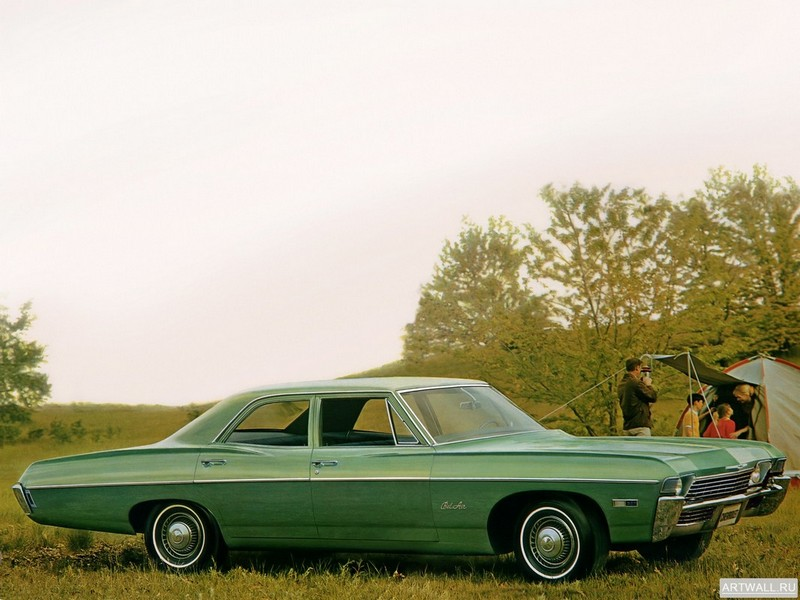 Постер Chevrolet Bel Air 4-door Sedan 1968, 27x20 см, на бумагеChevrolet<br>Постер на холсте или бумаге. Любого нужного вам размера. В раме или без. Подвес в комплекте. Трехслойная надежная упаковка. Доставим в любую точку России. Вам осталось только повесить картину на стену!<br>