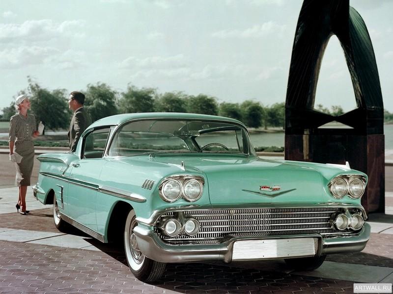 Постер Chevrolet Bel Air Impala 1958, 27x20 см, на бумагеChevrolet<br>Постер на холсте или бумаге. Любого нужного вам размера. В раме или без. Подвес в комплекте. Трехслойная надежная упаковка. Доставим в любую точку России. Вам осталось только повесить картину на стену!<br>