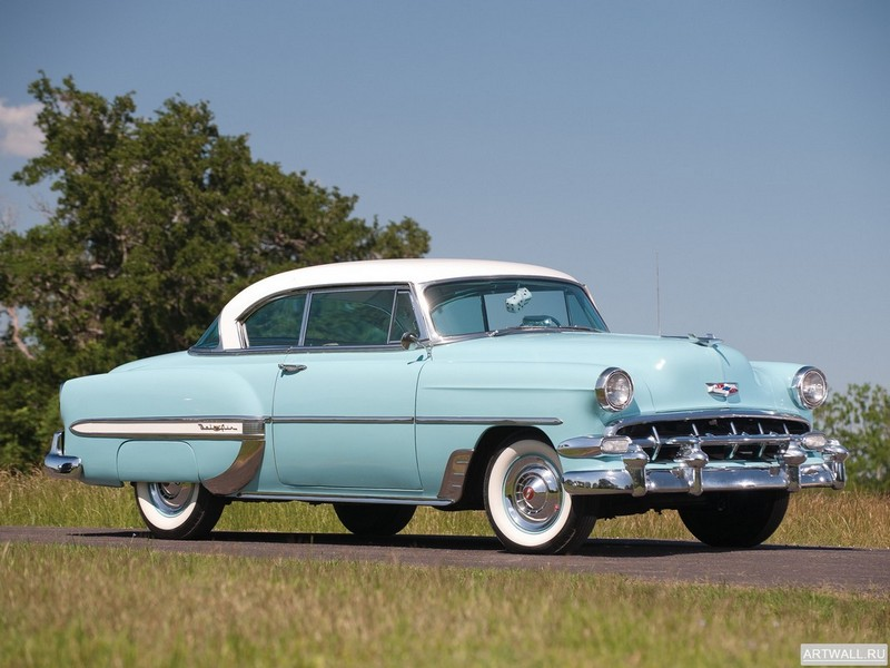 Постер Chevrolet Bel Air Sport Coupe (2454-1037D) 1954, 27x20 см, на бумагеChevrolet<br>Постер на холсте или бумаге. Любого нужного вам размера. В раме или без. Подвес в комплекте. Трехслойная надежная упаковка. Доставим в любую точку России. Вам осталось только повесить картину на стену!<br>