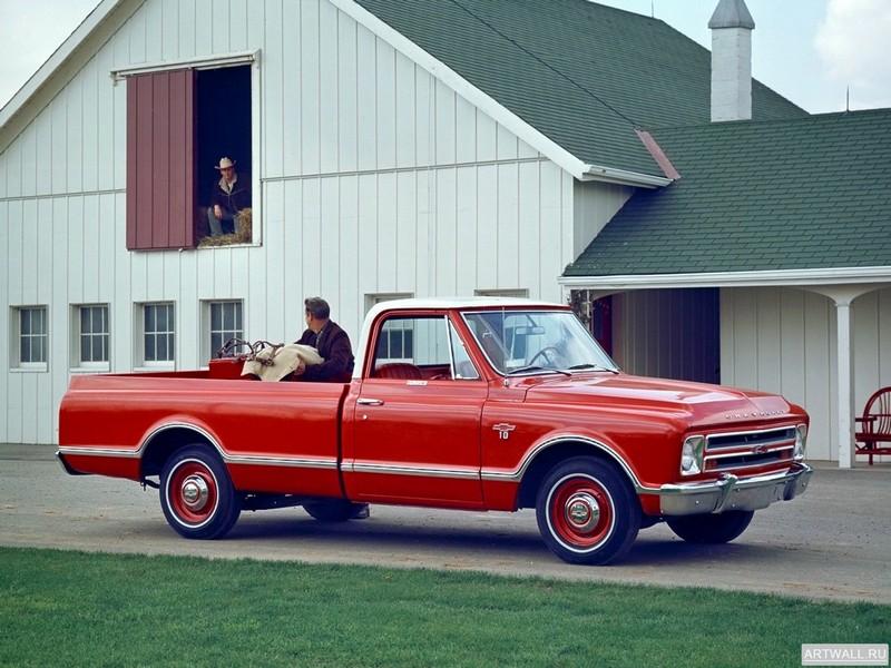 Постер Chevrolet C10 Fleetside 1967, 27x20 см, на бумагеChevrolet<br>Постер на холсте или бумаге. Любого нужного вам размера. В раме или без. Подвес в комплекте. Трехслойная надежная упаковка. Доставим в любую точку России. Вам осталось только повесить картину на стену!<br>