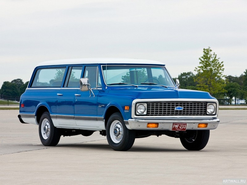 Постер Chevrolet C20 Suburban 1972, 27x20 см, на бумагеChevrolet<br>Постер на холсте или бумаге. Любого нужного вам размера. В раме или без. Подвес в комплекте. Трехслойная надежная упаковка. Доставим в любую точку России. Вам осталось только повесить картину на стену!<br>