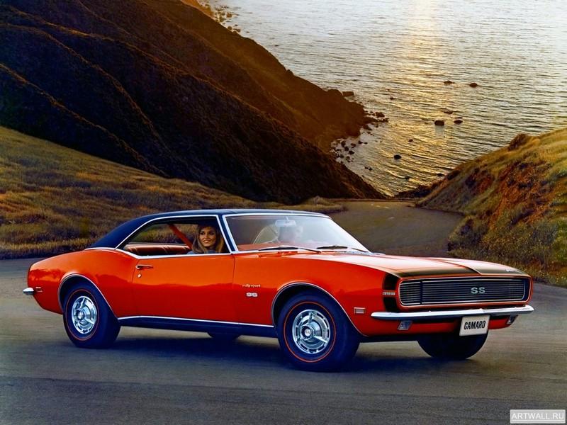 Постер Chevrolet Camaro Rally Sport SS 396 1968, 27x20 см, на бумагеChevrolet<br>Постер на холсте или бумаге. Любого нужного вам размера. В раме или без. Подвес в комплекте. Трехслойная надежная упаковка. Доставим в любую точку России. Вам осталось только повесить картину на стену!<br>