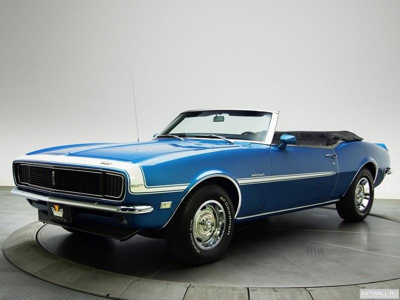 Постер Chevrolet Camaro RS 327 Convertible 1968, 27x20 см, на бумагеChevrolet<br>Постер на холсте или бумаге. Любого нужного вам размера. В раме или без. Подвес в комплекте. Трехслойная надежная упаковка. Доставим в любую точку России. Вам осталось только повесить картину на стену!<br>