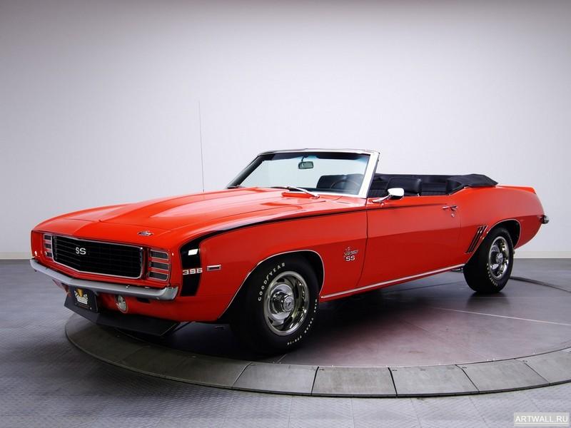 Постер Chevrolet Camaro RS SS 396 Convertible 1969, 27x20 см, на бумагеChevrolet<br>Постер на холсте или бумаге. Любого нужного вам размера. В раме или без. Подвес в комплекте. Трехслойная надежная упаковка. Доставим в любую точку России. Вам осталось только повесить картину на стену!<br>