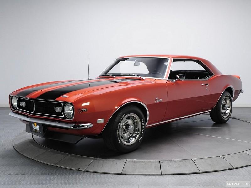 Постер Chevrolet Camaro Z 28 1968, 27x20 см, на бумагеChevrolet<br>Постер на холсте или бумаге. Любого нужного вам размера. В раме или без. Подвес в комплекте. Трехслойная надежная упаковка. Доставим в любую точку России. Вам осталось только повесить картину на стену!<br>