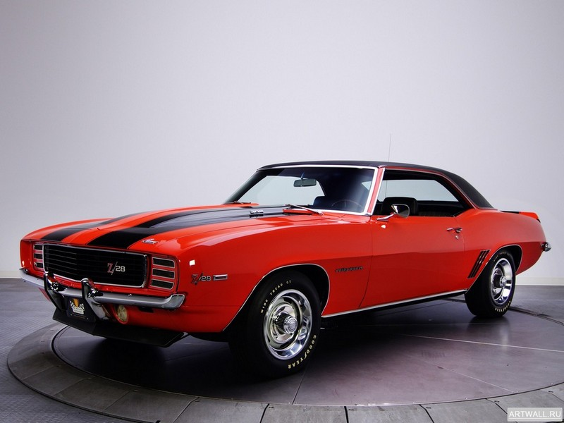 Chevrolet Camaro Z28 RS 1969, 27x20 см, на бумагеChevrolet<br>Постер на холсте или бумаге. Любого нужного вам размера. В раме или без. Подвес в комплекте. Трехслойная надежная упаковка. Доставим в любую точку России. Вам осталось только повесить картину на стену!<br>