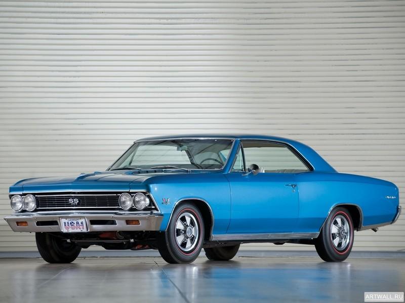 Постер Chevrolet Chevelle SS 396 1966, 27x20 см, на бумагеChevrolet<br>Постер на холсте или бумаге. Любого нужного вам размера. В раме или без. Подвес в комплекте. Трехслойная надежная упаковка. Доставим в любую точку России. Вам осталось только повесить картину на стену!<br>