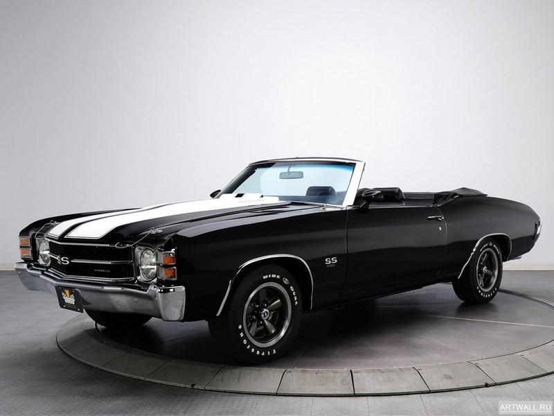 Постер Chevrolet Chevelle SS 454 LS5 Convertible 1971, 27x20 см, на бумагеChevrolet<br>Постер на холсте или бумаге. Любого нужного вам размера. В раме или без. Подвес в комплекте. Трехслойная надежная упаковка. Доставим в любую точку России. Вам осталось только повесить картину на стену!<br>