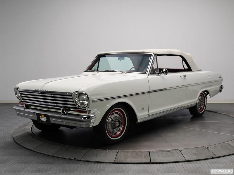 Постер Chevrolet Chevy II Nova 400 Convertible 1963, 27x20 см, на бумагеChevrolet<br>Постер на холсте или бумаге. Любого нужного вам размера. В раме или без. Подвес в комплекте. Трехслойная надежная упаковка. Доставим в любую точку России. Вам осталось только повесить картину на стену!<br>