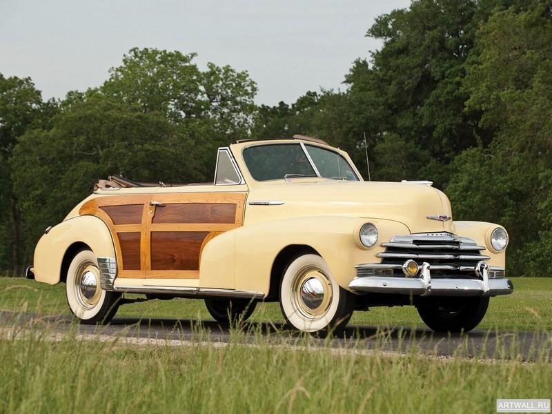 Постер Chevrolet Fleetmaster Country Club Convertible 1947, 27x20 см, на бумагеChevrolet<br>Постер на холсте или бумаге. Любого нужного вам размера. В раме или без. Подвес в комплекте. Трехслойная надежная упаковка. Доставим в любую точку России. Вам осталось только повесить картину на стену!<br>
